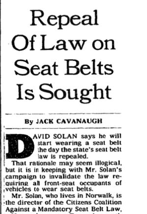 Utdrag fra nyhetsartikkel i New York Times 7. desember 1986.