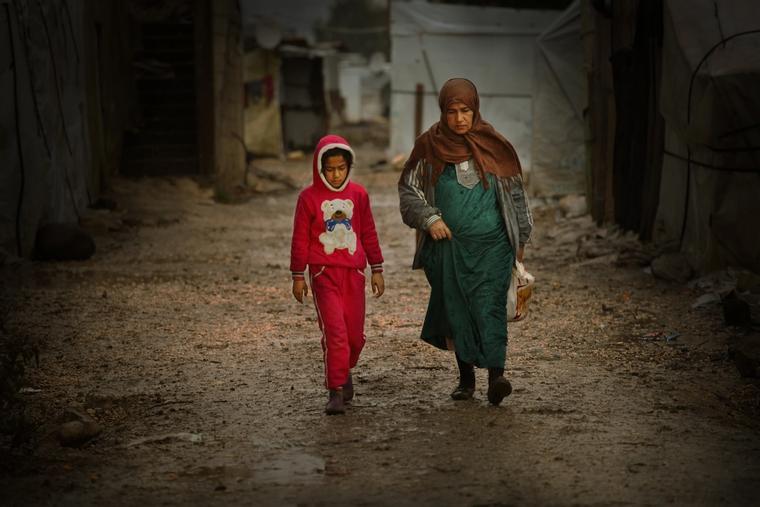Bildet viser syriske flyktninger i Semmaqiyeh, Libanon i fjor.