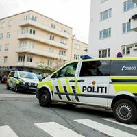 Politiet på åstedet for et masseslagsmål på Tøyen i Oslo i mai 2017.