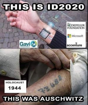 Bilder som dette spres med tilknytning til teoriene om Bill Gates og hans stiftelse.