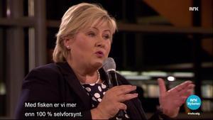 Erna Solberg i statsministerduell fra Tromsø