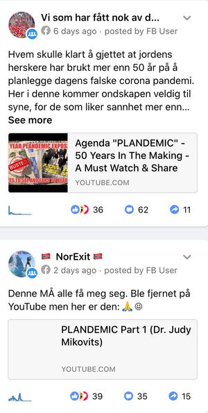 Videoen deles også i norske Facebook-grupper.