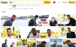 Et omvendt bildesøk viser at Marcus fra Bergen i virkelighet er en fotomodell som figurerer i en rekke illustrasjonsbilder.