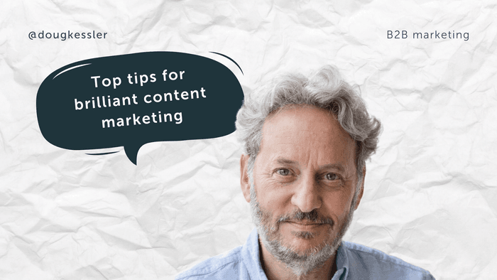 Nutcracker's head of content Charlotte pins down content marketing guru,Doug Kessler to ask about the secret to brilliant content marketing in B2B marketing.