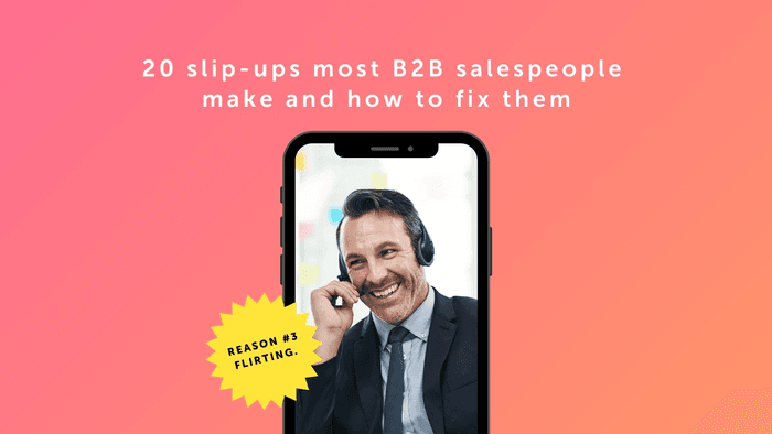20 slip-ups that B2B salespeople often make along with the ways to rectify them in order to boost your sales in the months ahead.