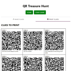 Screenshot of QR Code print tab
