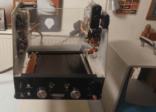 Electronics inside a dismantled crt screen