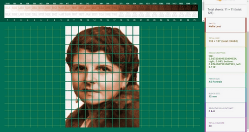 Pixel portrait maker web app