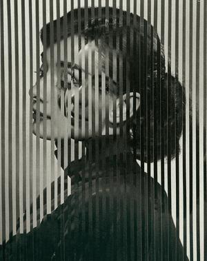 Two images of Audrey Hepburn interwoven.