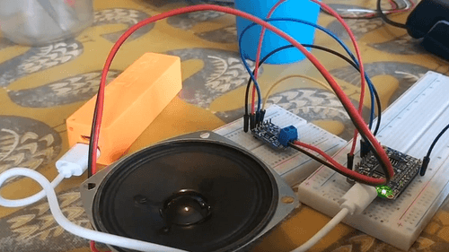 Single large speaker and circuit