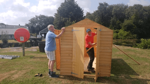 shed being built