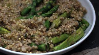 Buckwheat with asparagus