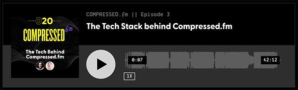 Compressed.fm Custom Audio Player