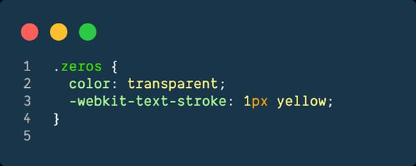 CSS for outlined text