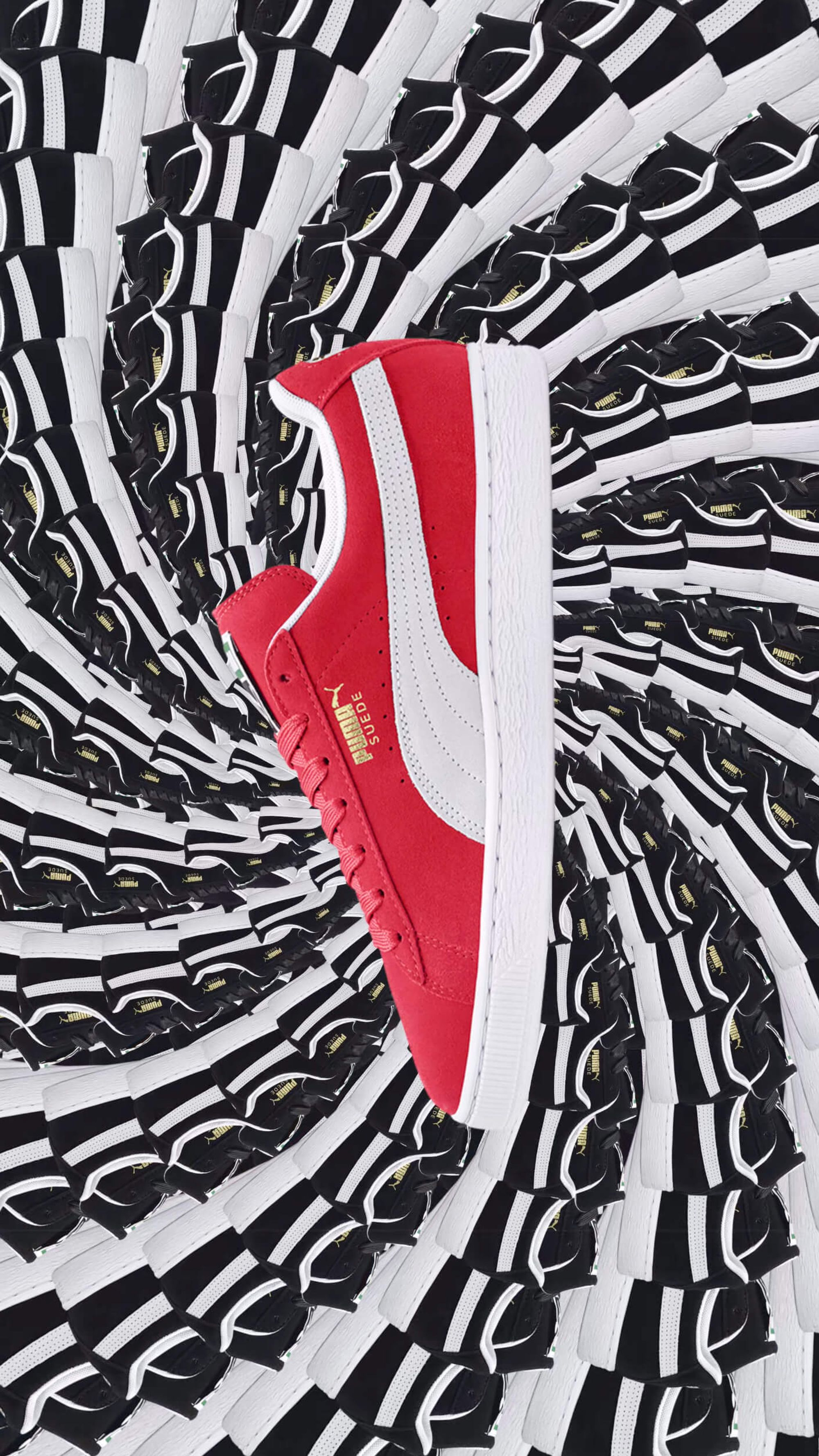 PUMA Suede repetitive pattern portrait