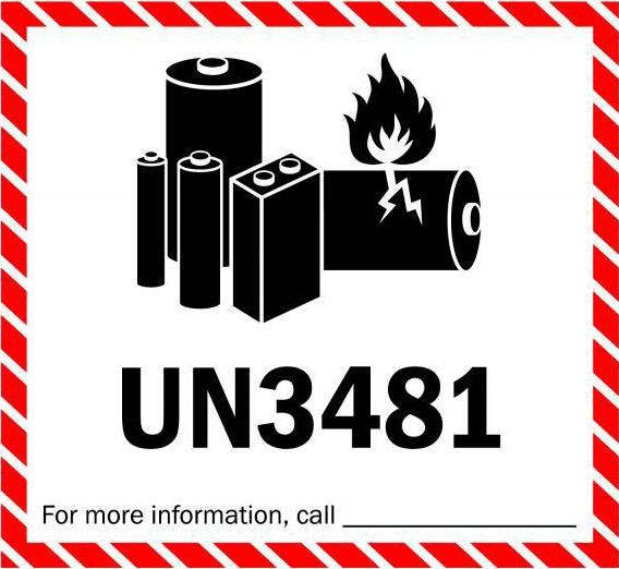 寄含鋰電池手機及電子產品到海外 UN3481 鋰電池標記 - Spaceship 國際物流專家
