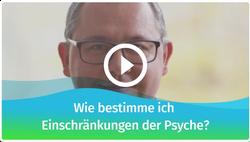 Wie bestimme ich Einschränkungen der Psyche und bei Verhaltensweisen?