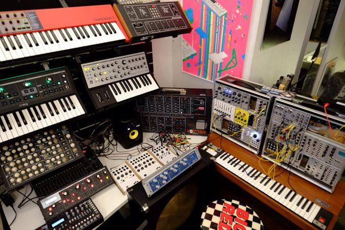 An assortment of synths