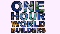 One Hour World Builders logo and inputs for roomname, username, and a button to enter.