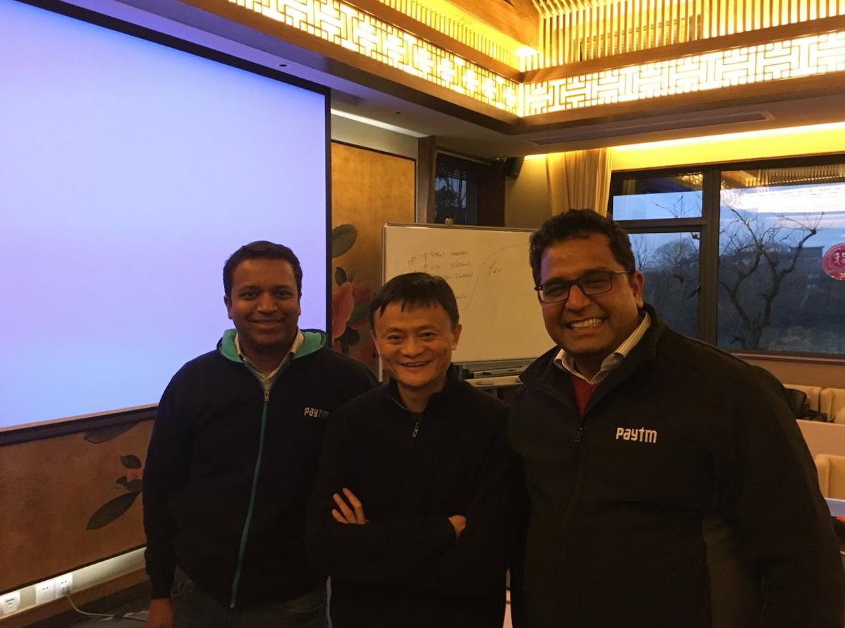Ravi Adusumalli, Jack Ma and Vijay Shekhar Sharma