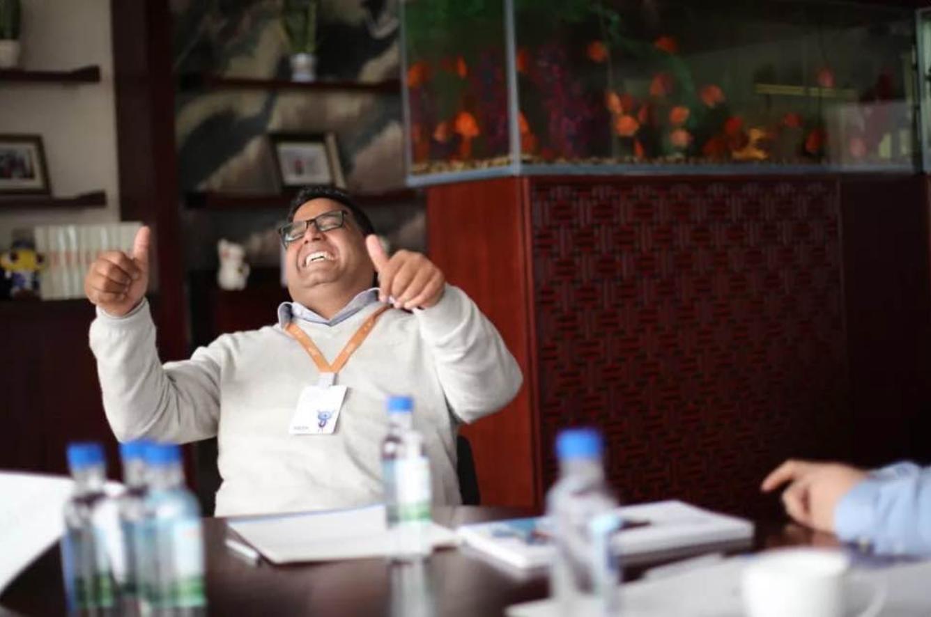 Vijay Shekhar Sharma elated in a Board Room