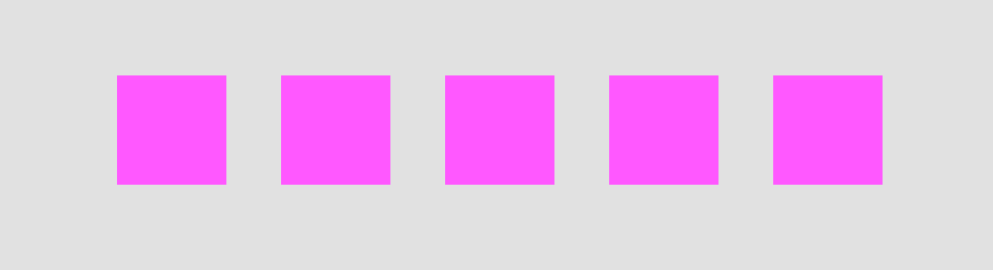 A screenshot of the result of our plugin: 5 pink rectangles.