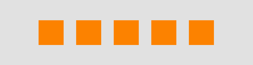 A screenshot of the result of our plugin: 5 orange rectangles.
