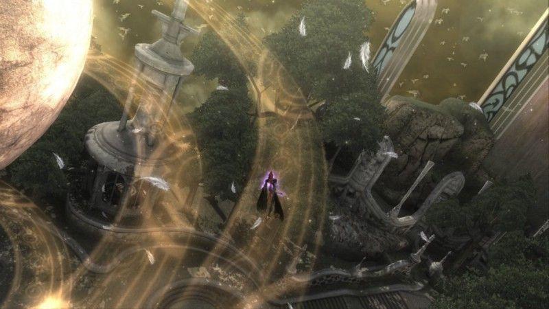 Несмотря на пышные декорации и акробатические способности главной героини, Bayonetta-абсолютно линейная игра.