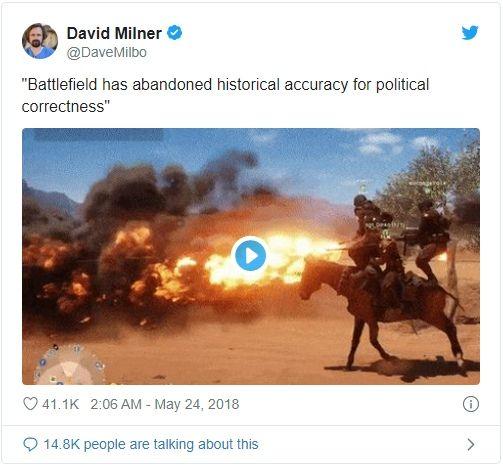 «Разработчики Battlefield отказались от исторической достоверности в угоду политкорректности».