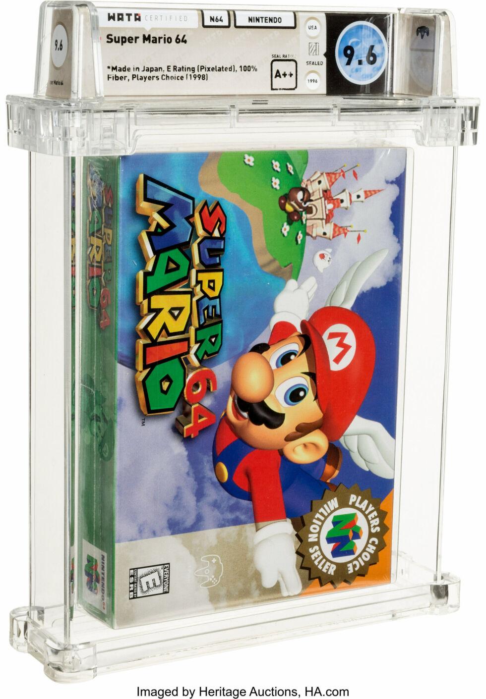 Та самая копия Super Mario 64, проданная за $1,56 миллиона. Оценка Wata Games — 9,6