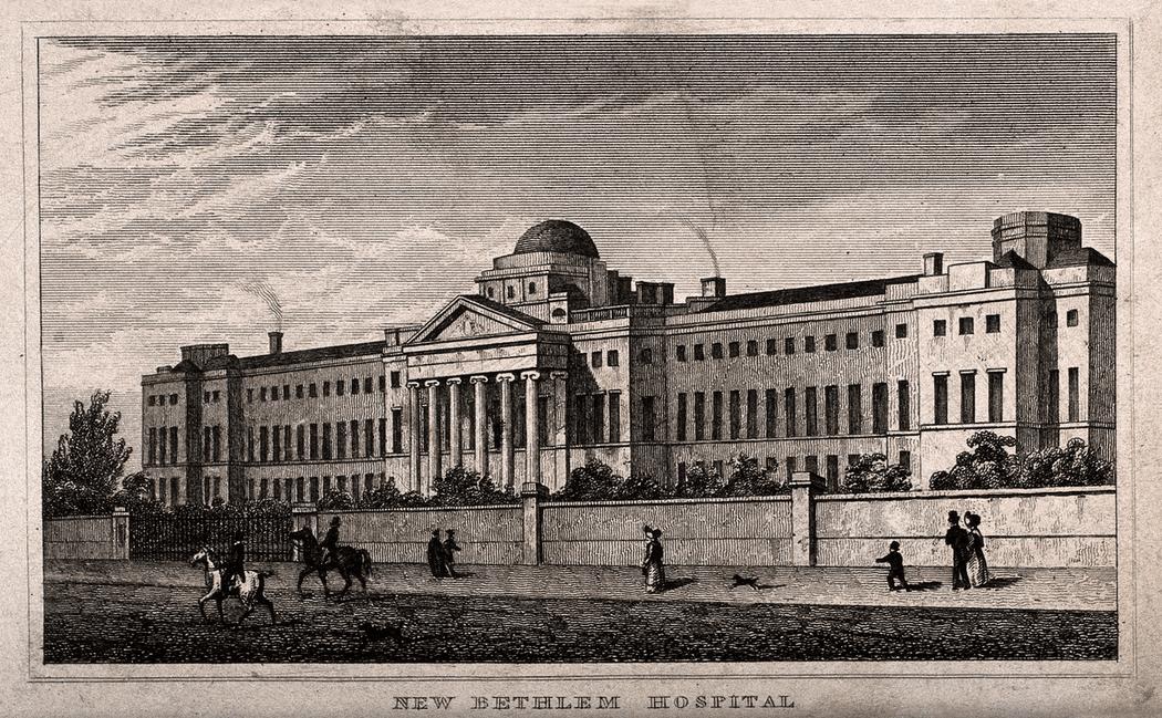 Бедлам был построен в 1246 году, но статус психиатрической лечебницы получил лишь в 1547 году. Здание пережило несколько пожаров и неоднократно перестраивалось. Второе подобное заведение, Больницу имени святого Люка (Луки) для лунатиков, построили лишь в 1751 году