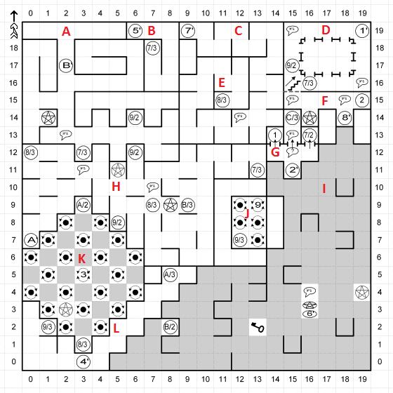Один из вариантов карты Космического Куба, который игроку придется исследовать в перспективе от первого лица.