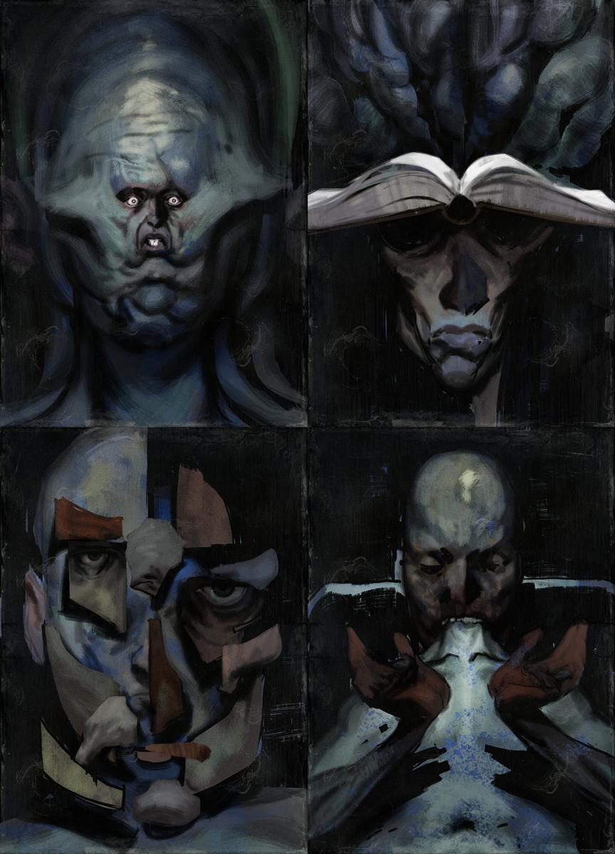 У каждого навыка в Disco Elysium есть свой портрет, возникающий во время внутреннего диалога