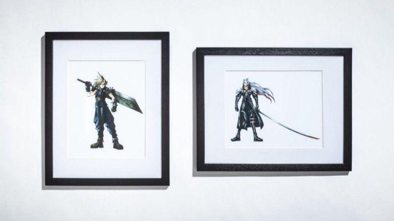 Тэцуя Номура повлиял на многие аспекты разработки Final Fantasy 7, но фанатам он известен лучше всего как дизайнер персонажей. Он отвечал за главных героев игры, в том числе за протагониста Клауда (слева) и злодея Сефирота (справа). | Фотограф: Джонатан Кастильо.