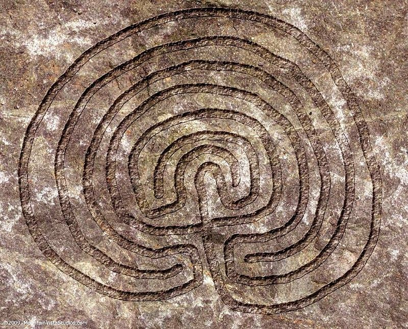 Схема критского лабиринта
