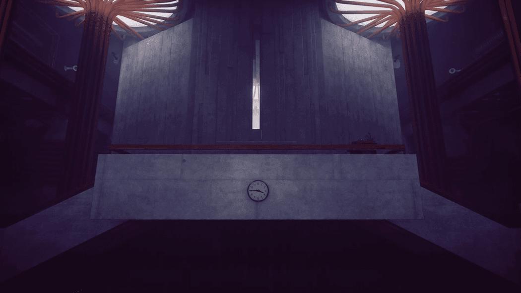 Один из залов Старейшего Дома, оформленный в духе проектов Тадао Андо