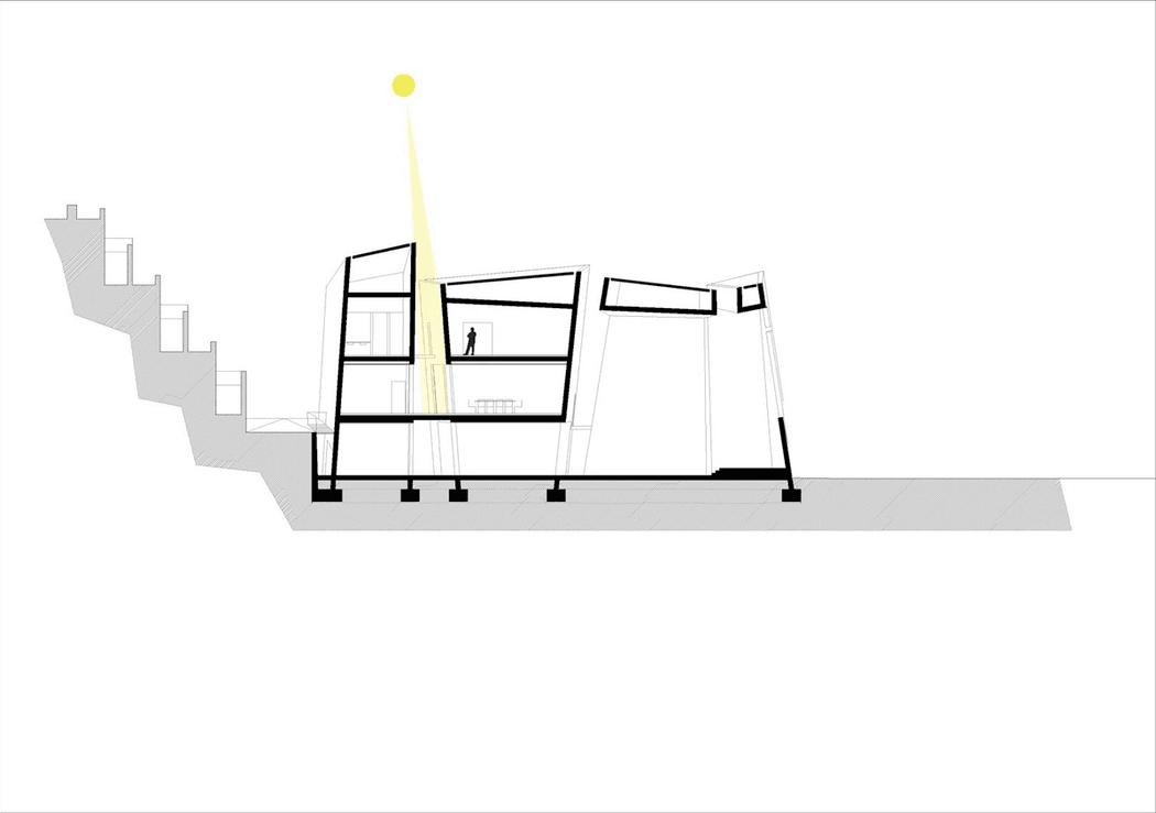 Схема Church in La Laguna в разрезе с похожей идеей
