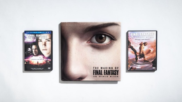Помимо выпуска двух версий Final Fantasy: The Spirits Within на DVD, Square вместе с автором Стивеном Кентом и издателем руководств по стратегии BradyGames выпустила книгу, описывающую технологию, дизайн и сценарий фильма.   Фотограф: Джонатан Кастильо.