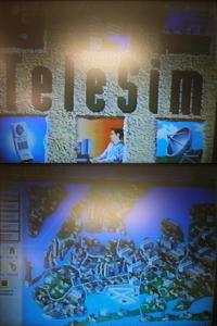 Два скриншота от TeleSim. Это закадровые фотографии, сделанные с помощью камеры телефона, с VHS-записи экрана проектора, поэтому прошу прощения за качество.
