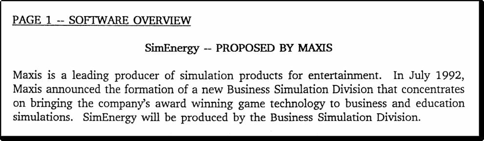 Отрывок из бизнес-документации SimEnergy. (28)