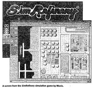 Один из немногих сохранившихся скриншотов SimRefinery. (25)
