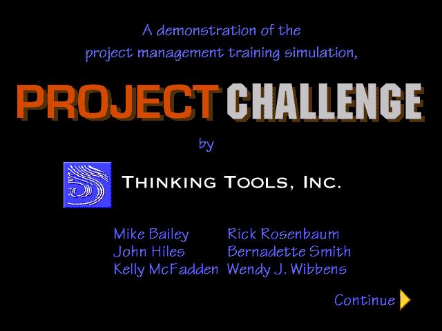 К 1996 году штат Thinking Tools увеличился до 15 сотрудников (10), но компания оставалась маленькой и сплоченной.