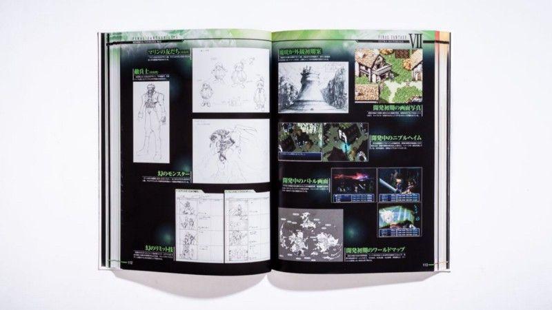 В 2012 году Square Enix выпустила в Японии артбук Final Fantasy 25th: Memorial Ultimata Vol.2, охватывающий историю Final Fantasy 7, 8 и 9. В книге показаны ранний прототип Final Fantasy 7 Square для Super Famicom и другие рабочие эксперименты. | Фотограф: Джонатан Кастильо.