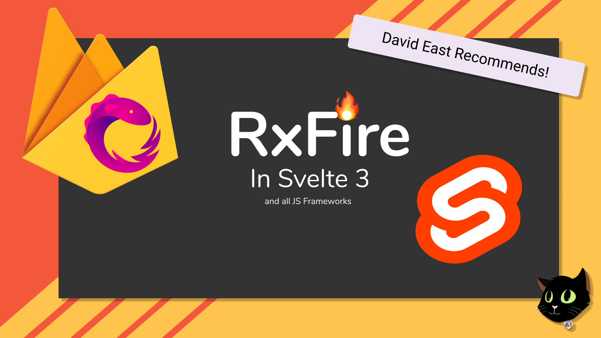 RxFire in Svelte 3 using Firebase Firestore and Authentication