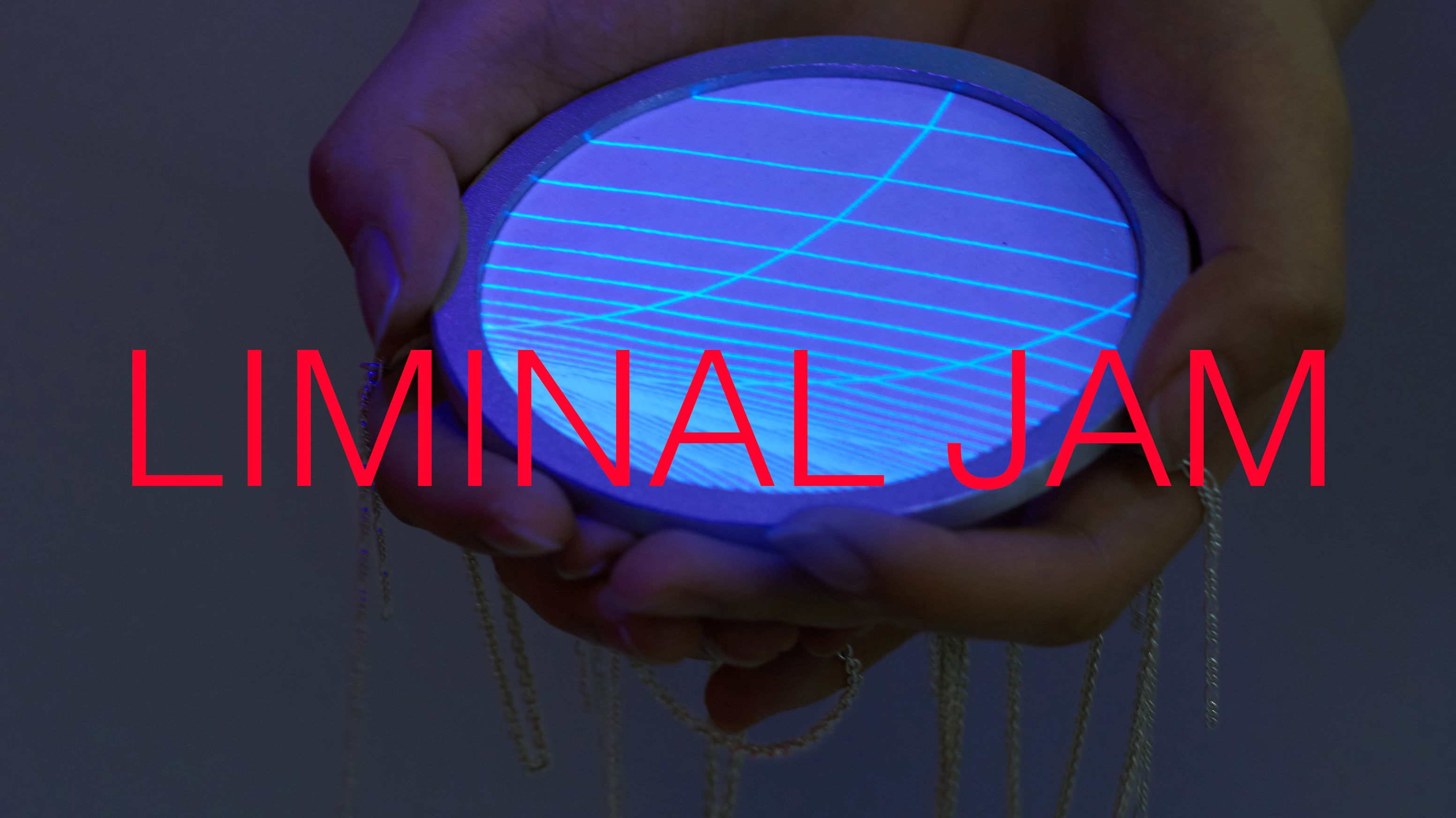 Jewellery & Metal student holding glowing object