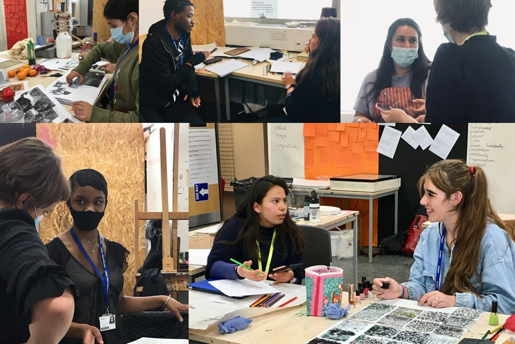 South Thames College - Foundation Art and Design tutors and Students