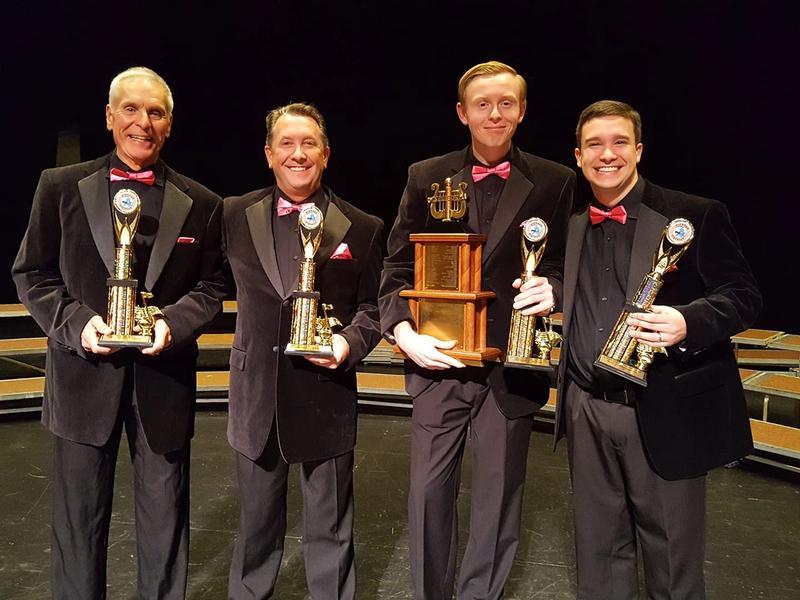 Silver Edition Quartet winning district championship
