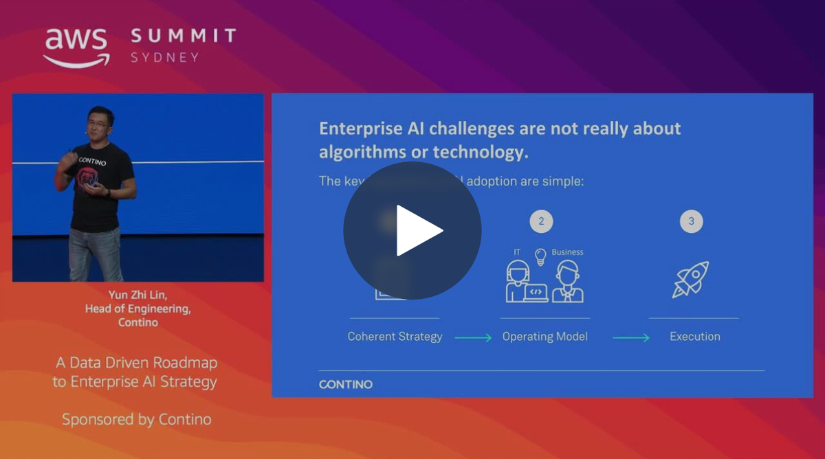 AWS Summit Sydney 2019: A Data Driven Roadmap to Enterprise AI Strategy