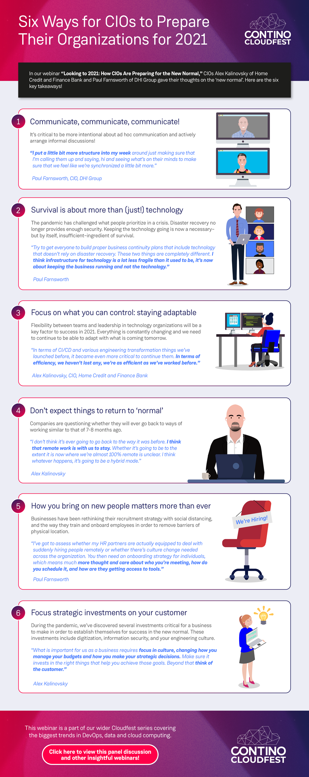 [Infographic] Six Ways CIOs Can Prepare Their Organizations for 2021