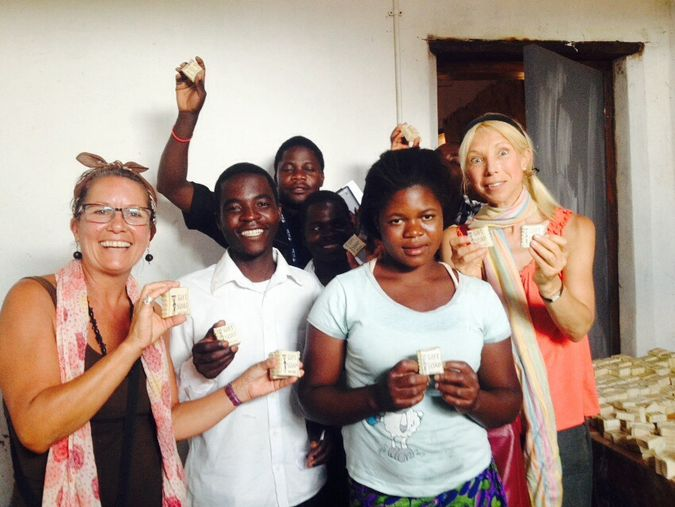Tapping Potential group who make the soaps with CEO Heather and trustee Sara
